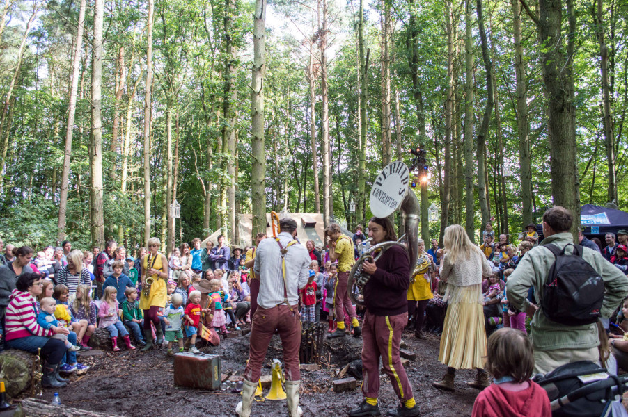 Image of Performance in woodland clearing