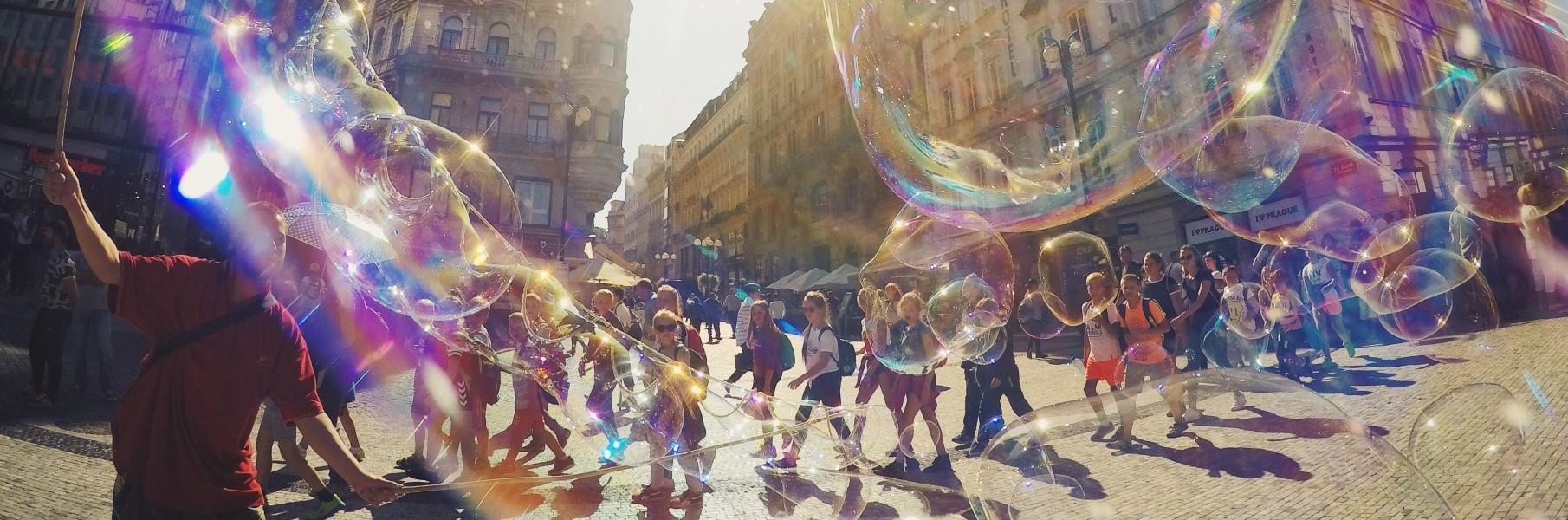 Image of Bubbles across street