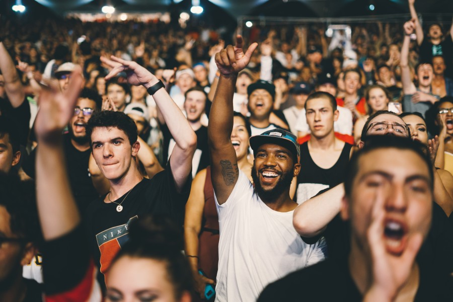 Image of Animated crowd at music performance