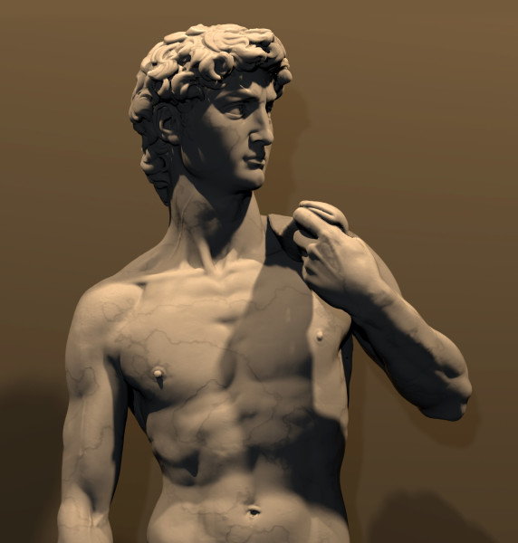 Image of 3D scan of statue